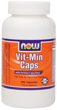 DROPPED: NOW Foods - Vit-Min Multiple Vitamin - 200 Capsules
