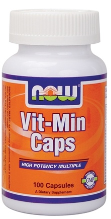 DROPPED: NOW Foods - Vit-Min Multiple Vitamin - 100 Capsules