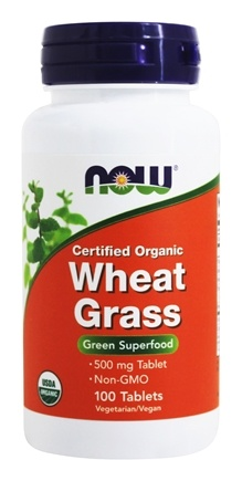 NOW Foods - Wheat Grass Organic 500 mg. - 100 Tablets