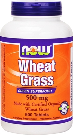 DROPPED: NOW Foods - Wheat Grass Organic Non-GE 500 mg. - 500 Tablets