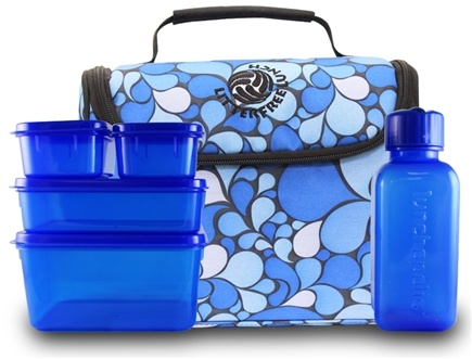 DROPPED: New Wave Enviro Products - Lunchopolis Litter Free Lunch Box with Food Containers Blue