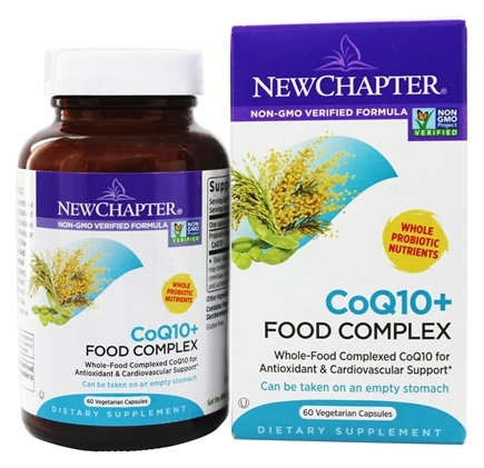 New Chapter - CoQ10+ Food Complex - 60 Vegetarian Capsules