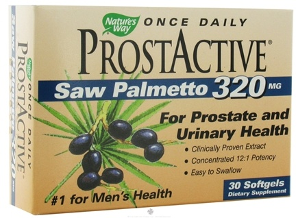 DROPPED: Nature's Way - ProstActive Saw Palmetto 320 mg. - 30 Softgels