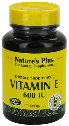 DROPPED: Nature's Plus - Vitamin E 600 IU - 60 Softgels