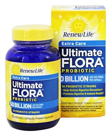 Renew Life - Ultimate Flora Extra Care Probiotic - 30 Vegetarian Capsules Formerly Critical Care