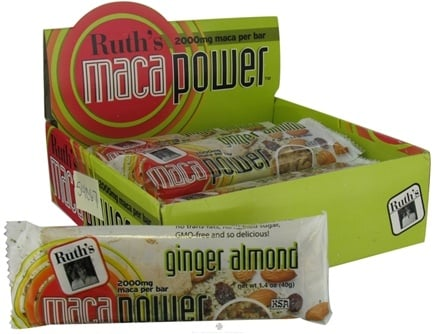 DROPPED: Ruth's Hemp Foods - Maca Power Bar Ginger Almond Flavor - 1.6 oz.