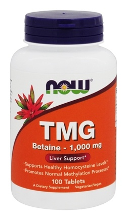 NOW Foods - TMG (Trimethylglycine) 1000 - 100 Tablets
