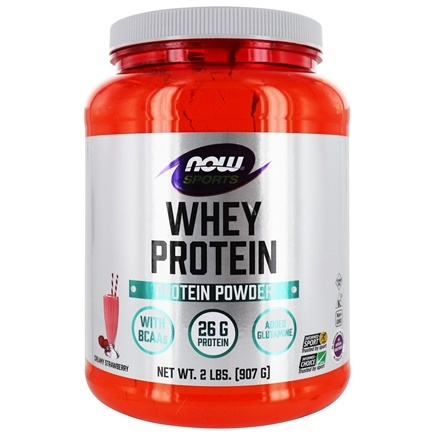 DROPPED: NOW Foods - Whey Protein Strawberry - 2 lbs. CLEARANCE PRICED