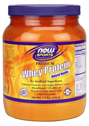 DROPPED: NOW Foods - Whey Protein with Glutamine Vanilla - 1 lb.