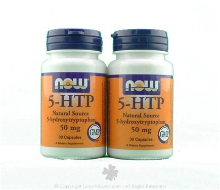 DROPPED: NOW Foods - 5-HTP (5-Hydroxy-L-Tryptophan) Twin Pack Special 50 mg. - 60 Capsules