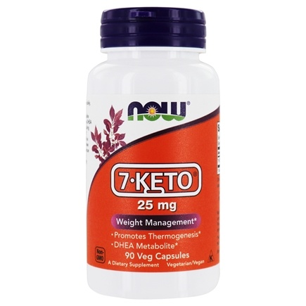 NOW Foods - 7-Keto Weight Management 25 mg. - 90 Vegetarian Capsules