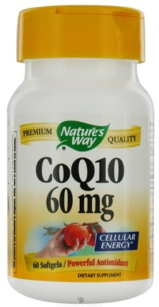 DROPPED: Nature's Way - CoQ10 60 mg. - 60 Softgels