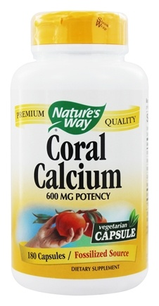 Nature's Way - Coral Calcium With 73 Trace Minerals - 180 Vegetarian Capsules