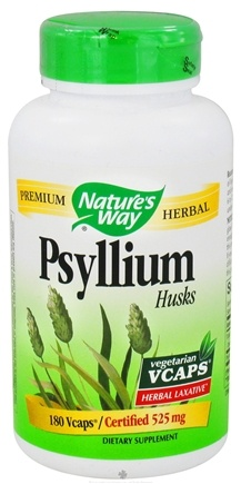 DROPPED: Nature's Way - Psyllium Husks 525 mg. - 180 Vegetarian Capsules CLEARANCE PRICED