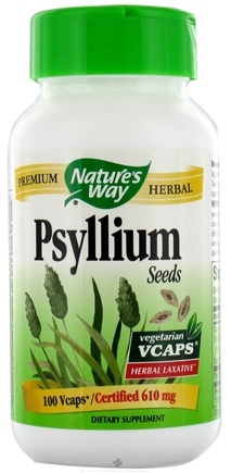 DROPPED: Nature's Way - Psyllium Husks 610 mg. - 100 Vegetarian Capsules CLEARANCE PRICED