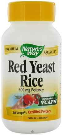 DROPPED: Nature's Way - Red Yeast Rice 600 mg. - 60 Vegetarian Capsules CLEARANCE PRICED