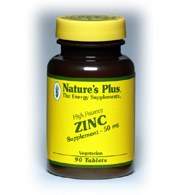 DROPPED: Nature's Plus - Zinc 50 mg. - 90 Tablets