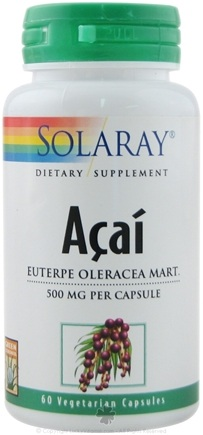 DROPPED: Solaray - Acai 500 mg. - 60 Vegetarian Capsules CLEARANCE PRICED