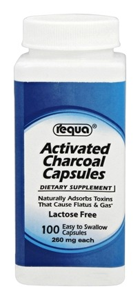 Requa - Activated Charcoal 260 mg. - 100 Capsules