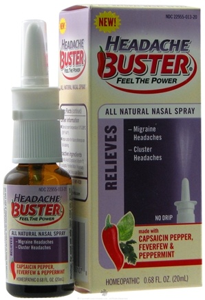 DROPPED: Buster Brands - Headache Buster Nasal Spray - 0.68 oz. Formerly SiCap Industries