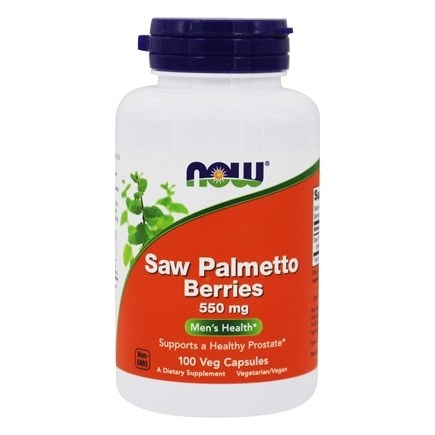 NOW Foods - Saw Palmetto Berries Men's Health 550 mg. - 100 Capsules