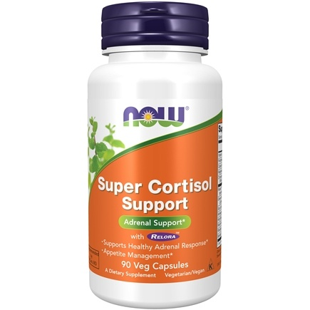 NOW Foods - Super Cortisol Support with Relora - 90 Vegetarian Capsules (formerly Magnolia Bark)
