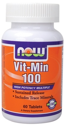 DROPPED: NOW Foods - Vit-Min 100 (Sustained Release High Potency) - 60 Tablets