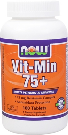 DROPPED: NOW Foods - Vit-Min 75+ Multiple Vitamin - 180 Tablets