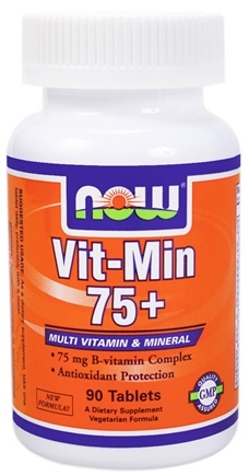 DROPPED: NOW Foods - Vit-Min 75+ Multiple Vitamin - 90 Tablets