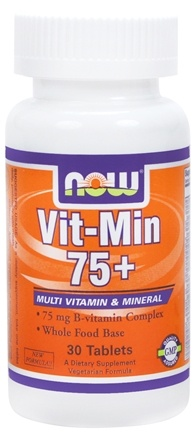 DROPPED: NOW Foods - Vit-Min 75+ Multiple Vitamin - 30 Tablets CLEARANCE PRICED