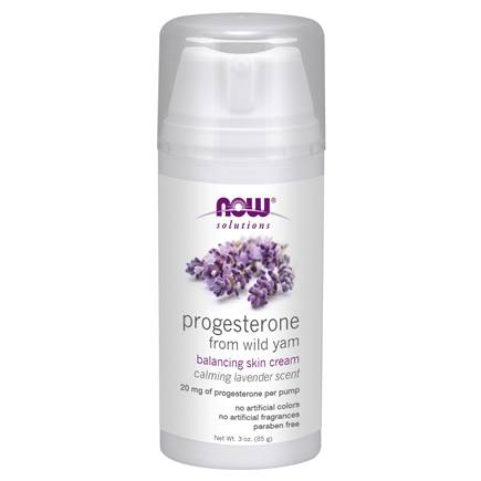 NOW Foods - Natural Progesterone Liposomal Skin Cream Calming Lavender - 3 oz.