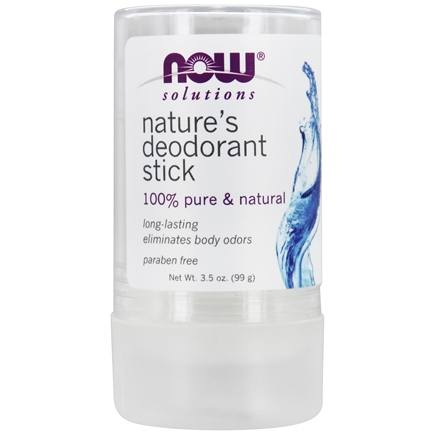 DROPPED: NOW Foods - 100% Pure & Natural Nature's Deodorant Stick - 3.5 oz. CLEARANCE PRICED