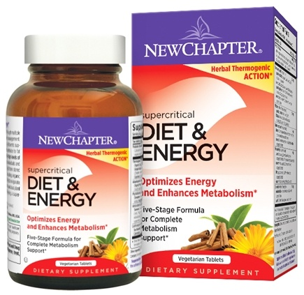 DROPPED: New Chapter - Supercritical Diet & Energy - 60 Vegetarian Capsules