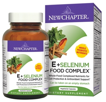 DROPPED: New Chapter - E & Selenium Food Complex - 30 Vegetarian Capsules