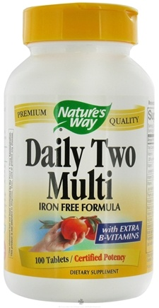 DROPPED: Nature's Way - Daily Two Multi (iron-free) - 100 Tablets CLEARANCE PRICED