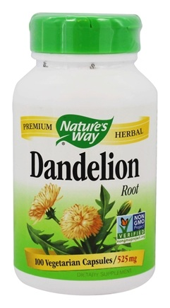Nature's Way - Dandelion Root 525 mg. - 100 Vegetarian Capsules