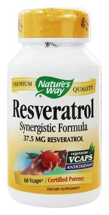 Buy Nature S Way Resveratrol Synergistic Formula 37 5mg