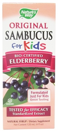 Nature's Way - Original Sambucus For Kids Bio-Certified Elderberry Syrup - 4 oz.