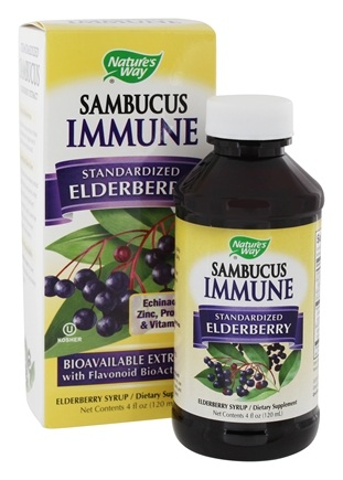 DROPPED: Nature's Way - Sambucus Immune System Bio-Certified Elderberry, Echinacea, Zinc, Propolis & Vitamin C Syrup - 4 oz.