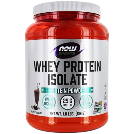 NOW Foods - Whey Protein Isolate Dutch Chocolate - 1.8 lbs.