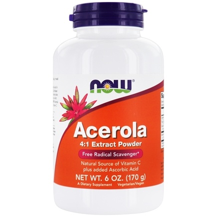 DROPPED: NOW Foods - Acerola Powder Antioxidant Protection - 6 oz.