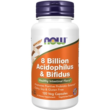 NOW Foods - Acidophilus & Bifidus 8 Billion - 120 Capsules
