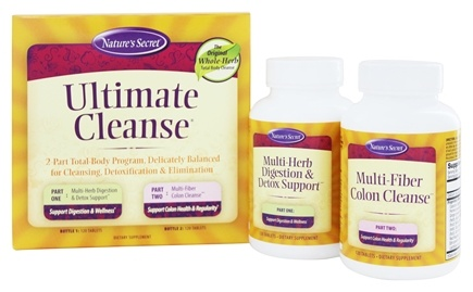 Zoom View - Ultimate Cleanse Program - Multi-Herb 120 Tablets & Multi-Fiber 120 Tablets