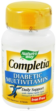 DROPPED: Nature's Way - Completia Diabetic Multi-Vitamin Iron-Free - 30 Tablets CLEARANCED PRICED