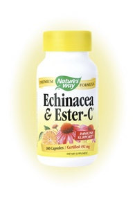 DROPPED: Nature's Way - Echinacea & Ester C 417 mg. - 100 Capsules