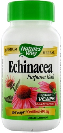 DROPPED: Nature's Way - Echinacea 400 mg. - 100 Vegetarian Capsules CLEARANCE PRICED