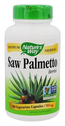 Nature's Way - Saw Palmetto Berries 585 mg. - 180 Vegetarian Capsules