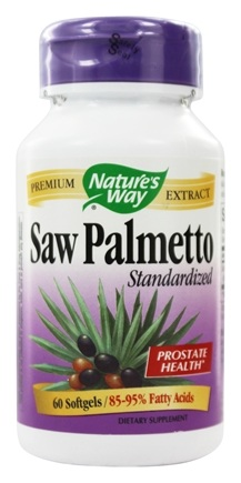 Nature's Way - Saw Palmetto Standardized Extract 160 mg. - 60 Softgels