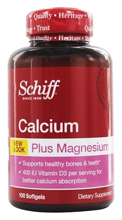Schiff - Calcium & Magnesium with Vitamin D - 100 Softgels