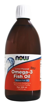 NOW Foods - Omega-3 Fish Oil Lemon Flavored - 16.9 oz.